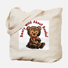 Beary Wild About Books Tote Bag
