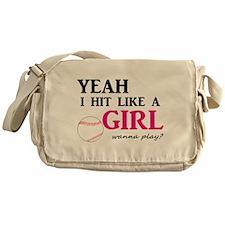 Hit Like A Girl Messenger Bag