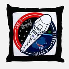 SpX 6 Logo Throw Pillow