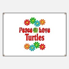 Peace Love Turtles Banner