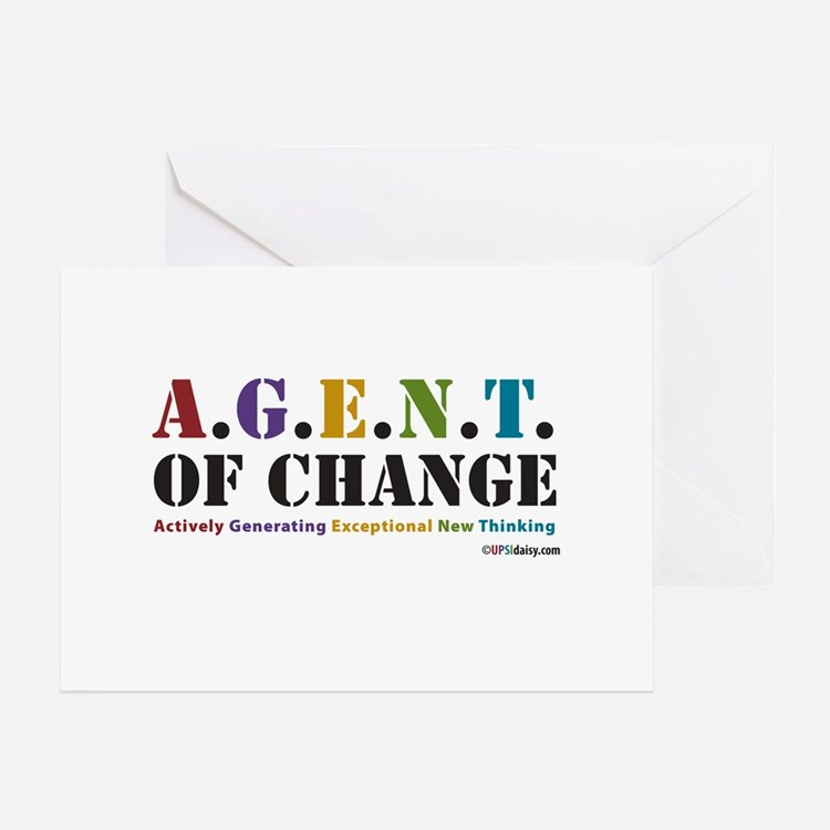 Agent of Change Greeting Card