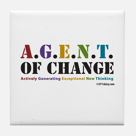Agent of Change Tile Coaster