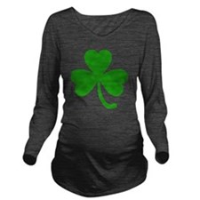 3 Leaf Kelly Green S Long Sleeve Maternity T-Shirt
