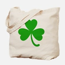 3 Leaf Kelly Green Shamrock with Stem Tote Bag