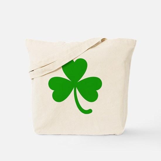 3 Leaf Kelly Green Shamrock with Stem Tote Bag