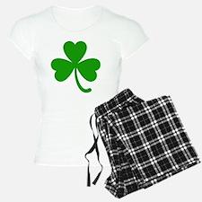 3 Leaf Kelly Green Shamrock Pajamas