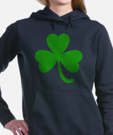 3 Leaf Kelly Green Shamr Women's Hooded Sweatshirt