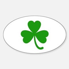 3 Leaf Kelly Green Shamrock with Stem Decal