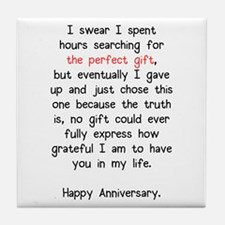 The Perfect Anniversary Gift Tile Coaster