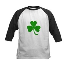 3 Leaf Kelly Green Shamrock with S Baseball Jersey