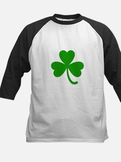 3 Leaf Kelly Green Shamrock with S Baseball Jersey