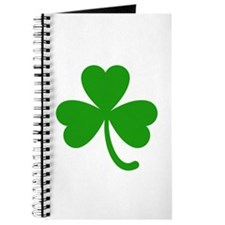 3 Leaf Kelly Green Shamrock with Stem Journal