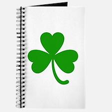 3 Leaf Kelly Green Shamrock with Stem Journal