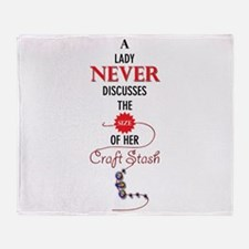 A lady never discusses the size of her craft stash