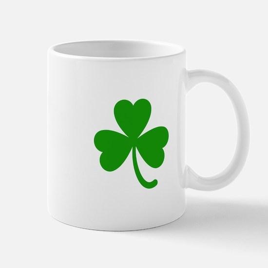 3 Leaf Kelly Green Shamrock with Stem Mugs