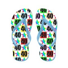 Awesome 40th Flip Flops