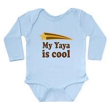 My Yaya Is Cool Long Sleeve Infant Bodysuit