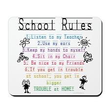 School Rules Mousepad