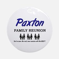 Paxton Family Reunion Ornament (Round)
