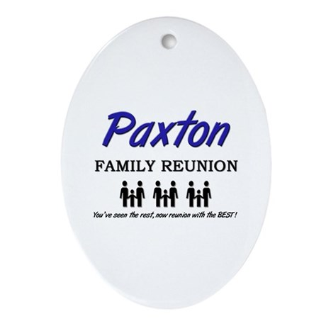 Paxton Family Reunion Oval Ornament