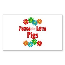 Peace Love Pigs Decal