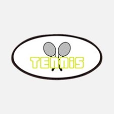 OPEN TENNIS W RAQUETS Patches