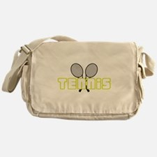 OPEN TENNIS W RAQUETS Messenger Bag