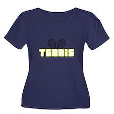 OPEN TENNIS W RAQUETS Plus Size T-Shirt