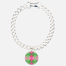 Pink-Green Argyle Bracelet