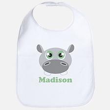 Custom Name Cute Hippo Bib