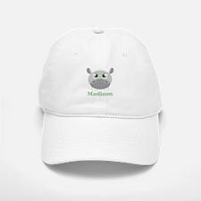 Custom Name Cute Hippo Baseball Baseball Cap