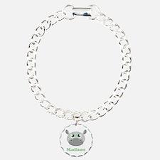 Custom Name Cute Hippo Bracelet