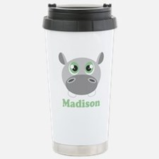 Custom Name Cute Hippo Travel Mug