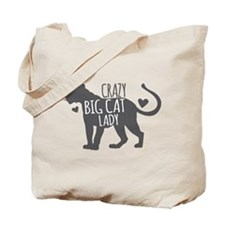 Crazy Big Cat Lady Tote Bag
