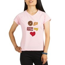 Donut Go Bacon My Heart Performance Dry T-Shirt