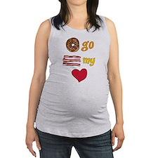 Donut Go Bacon My Heart Maternity Tank Top