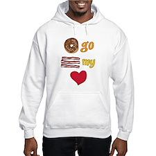 Donut Go Bacon My Heart Hoodie