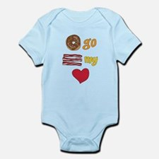 Donut Go Bacon My Heart Body Suit