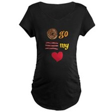 Donut Go Bacon My Heart Maternity T-Shirt
