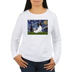 Starry Night Papillon Women's Long Sleeve T-Shirt