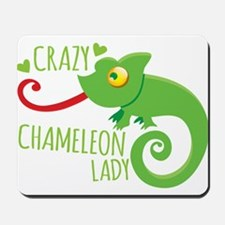 Crazy Chameleon Lady Mousepad