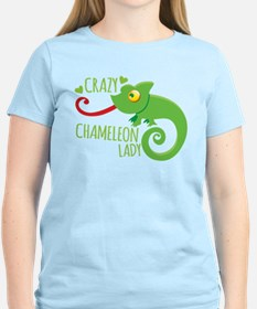 Crazy Chameleon Lady T-Shirt