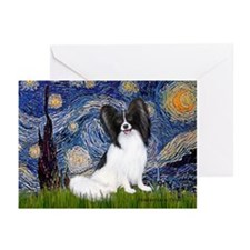 Starry Night Papillon Greeting Cards (Pk of 10)