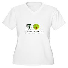 Captain's Log Plus Size T-Shirt