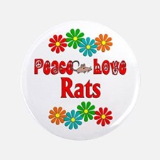 """Peace Love Rats 3.5"""" Button (100 pack)"""