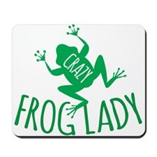 Crazy Frog Lady Mousepad