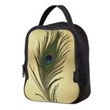Vintage Peacock Feather Neoprene Lunch Bag