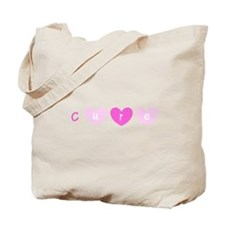 Cure Pink Hearts Breast Cancer for Lola Tote Bag