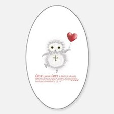Flying Valentine With Corinthians 1 Sticker (Oval)