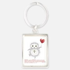 Flying Valentine With Corinthian Portrait Keychain